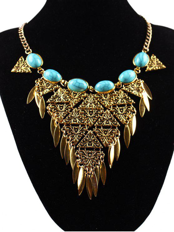 shops Triangle Necklace - GOLDEN