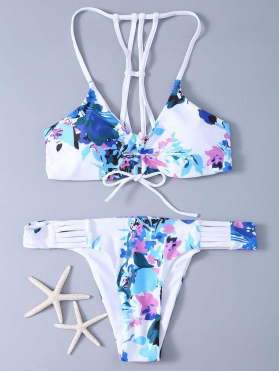 26d6401df 23% OFF  2019 Hasta Set Bikini Estampado De Flores De Encaje En ...