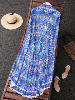 Ethnic Print Toalla De Playa - Azul