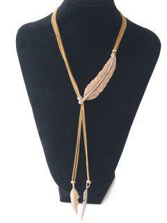 Leaf Sweater Chain - Golden