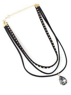 Water Drop Necklace - Black