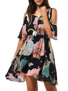 Floral Cami Creux Robe En Mousseline De Soie Out - S