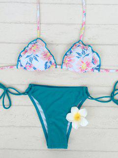 Floral Print String Bikini - S