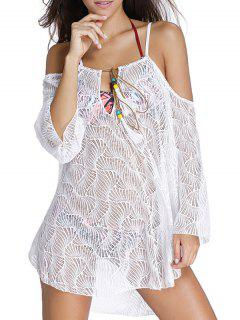 Hollow Cami Off The Shoulder Cover Up Dress - White S
