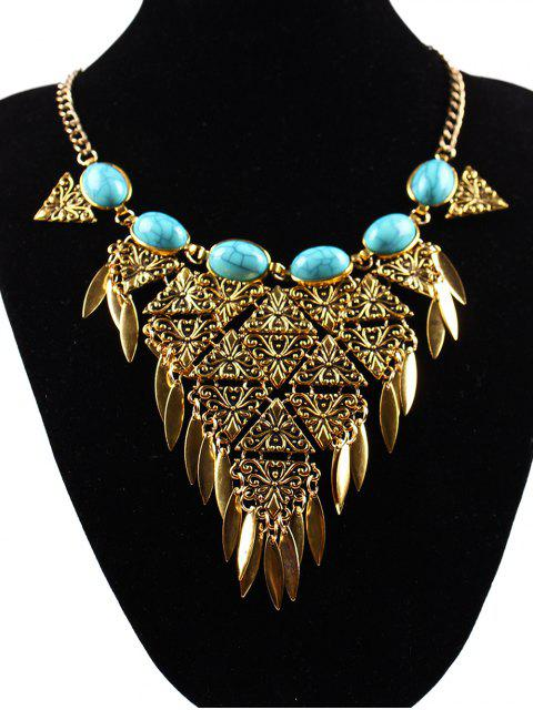 shops Triangle Necklace - GOLDEN  Mobile