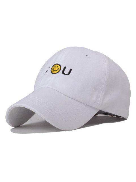 trendy Smiley Embroidery Baseball Hat -   Mobile