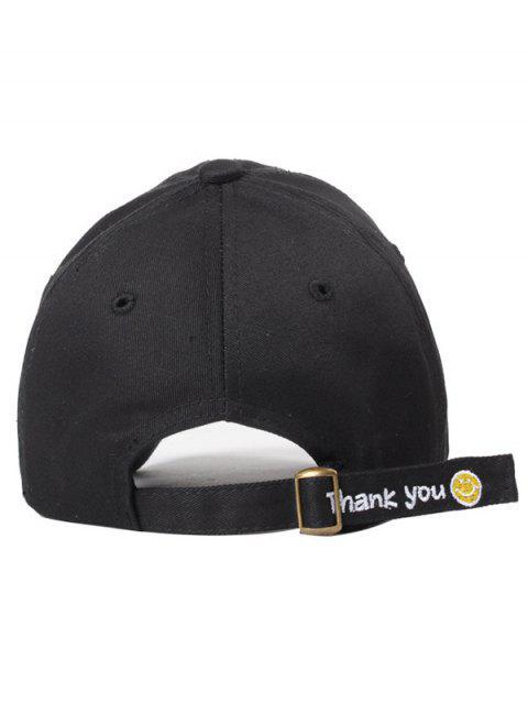fashion Smiley Embroidery Baseball Hat -   Mobile