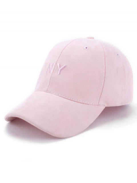 unique Faux Suede Baseball Hat - PINK  Mobile