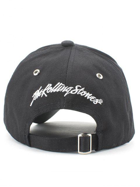 hot Stick Out Tongue Baseball Hat - BLACK  Mobile