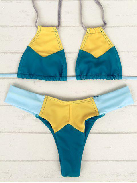 Color Block Teeny Bikini Set - Multicolore XL Mobile