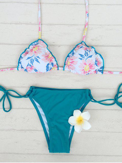 shop Floral Print String Bikini - COLORMIX S Mobile