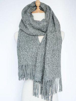 Tassel Knitted Wrap Scarf
