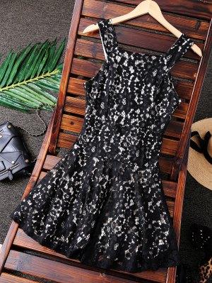 Vestido De Fiesta De Graduación Con Cuello Cuadrado - Negro M