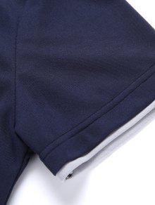 f09ff55dd99e Classic Turn-Down Collar Short Sleeve Polo T-Shirt For Men GRAY ...