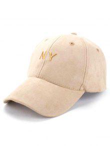 Faux Suede Baseball Hat - Khaki