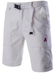 الجدة الرباط حزام تصميم عارضة كودري السراويل للرجال - أبيض Xl