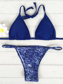 V-String Ensemble Bikini - Bleu M