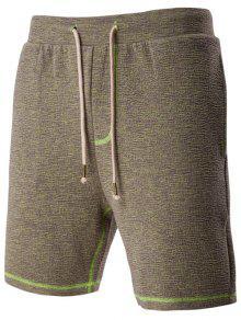 Ocasional Del Lazo De La Pretina Del Diseño Del Café Melange Pantalones Cortos Para Hombres - Café M