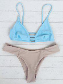 Bicolor Teeny Bikini - Bleu Xl
