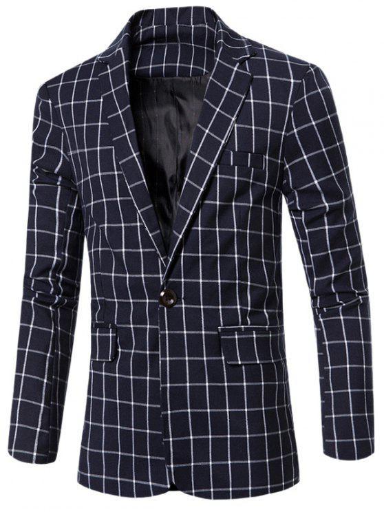 outfit Windowpane Check Men Blazer - BLUE M