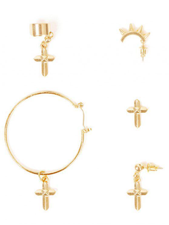 Pendientes de la Cruz - Dorado