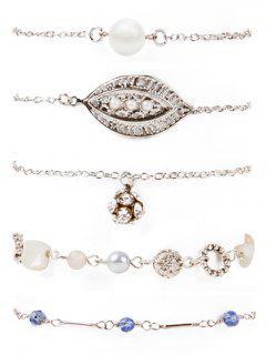 Rhinestone Bracelets - Silver