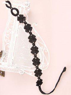 Lucky Clover Lace Bracelet - Black