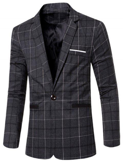 affordable Vintage Notched Lapel Collar Single Button Slim Fit Striped Blazer For Men -   Mobile