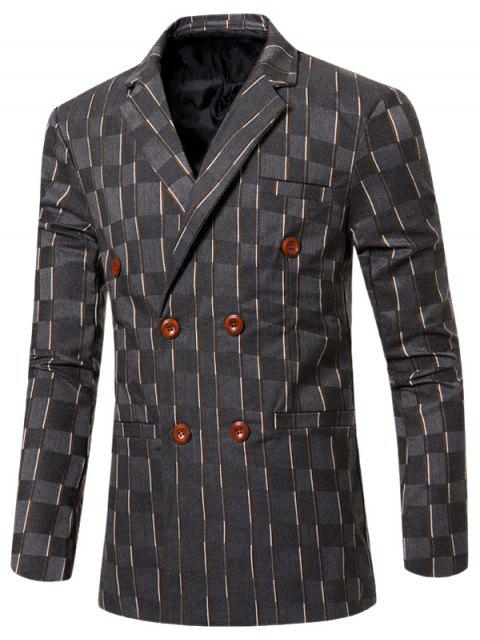 shop New Look Notched Lapel Collar Double Breasted Striped Blazer For Men -   Mobile