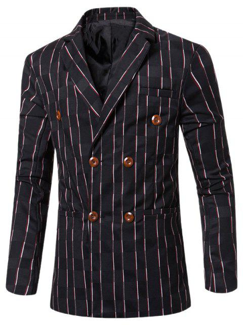 womens New Look Notched Lapel Collar Double Breasted Striped Blazer For Men -   Mobile