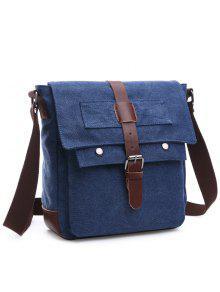حقيبة الرسالة مريح كتلة اللون للرجال - ازرق غامق