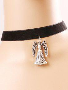 Buy Witch Skull Choker Necklace - BLACK