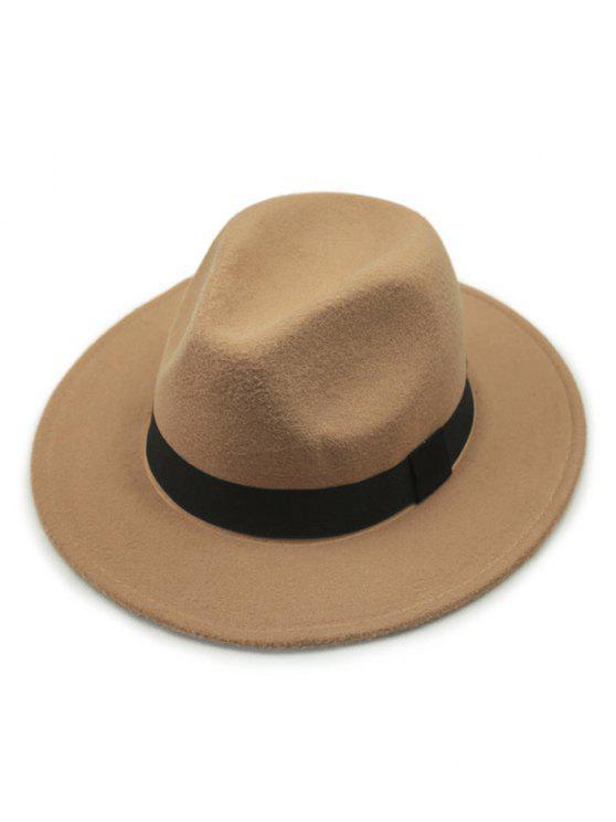 Chapeau à style vontage avec décoration d'une ceinture - Kaki