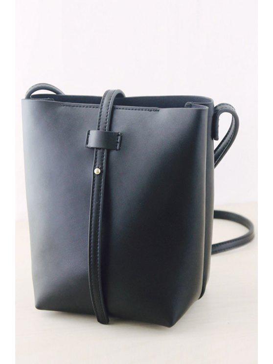 حقيبة كروسبودي باللون الأسود مع حزام - أسود
