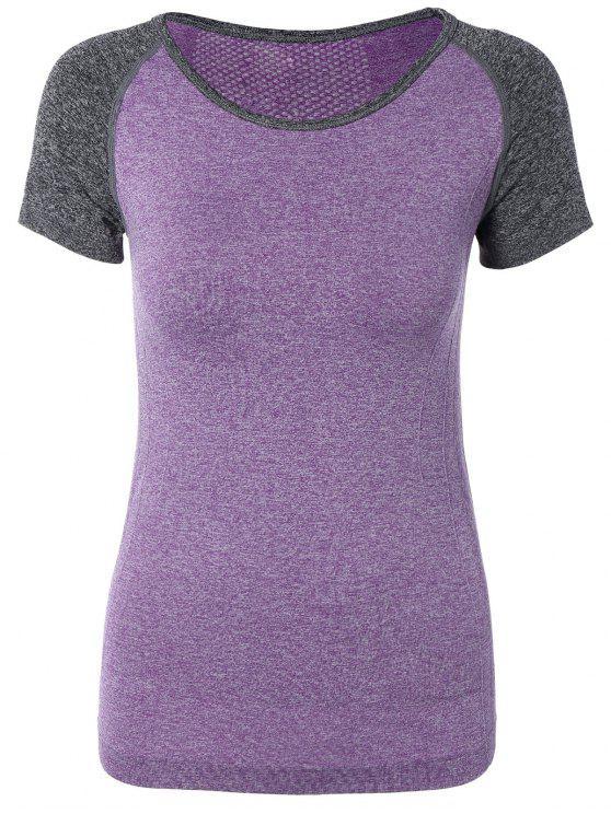 Hit camiseta del deporte del color Dri-Fit - Púrpura L