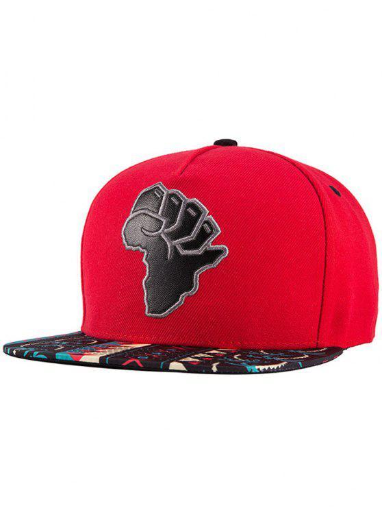 El mapa africano del sombrero del Snapback - Rojo