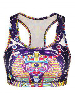 3D Print Cropped Yoga Tank Top - M