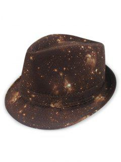 Starry Sky Fedora Hat - Coffee