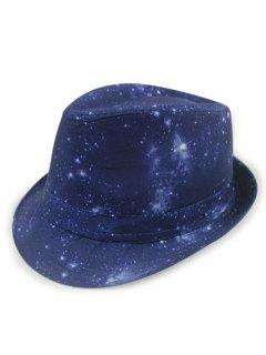 Starry Sky Fedora Hat - Bluish Violet