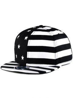 US Flag Snapback Hat - Black