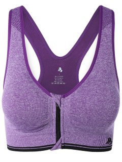 Front Closure Sport Bra - Light Purple S