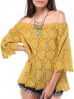 Cutwork Embroidered Top - Yellow