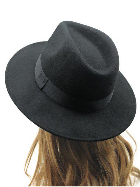 best Vintage Felt Fedora Hat - BLACK  Mobile