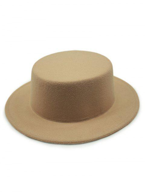 ladies Flat Top Felt Fedora Hat -   Mobile