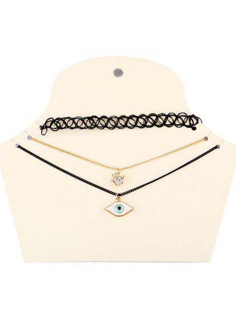 womens Devil Eye Necklaces - BLACK  Mobile