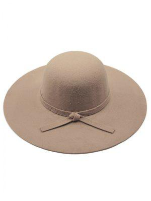 Color Sólido De Fieltro Sombrero Flojo - Caqui Oscuro