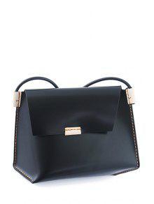خياطة حقيبة سوداء كروسبودي - أسود