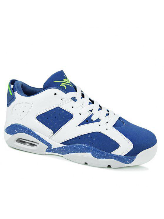 أزياء تنفس وربطة عنق تصميم أحذية رياضية للرجال - أزرق 42