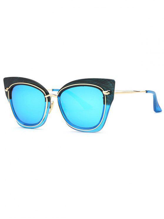 Gafas de sol del ojo de gato con espejo - Azul