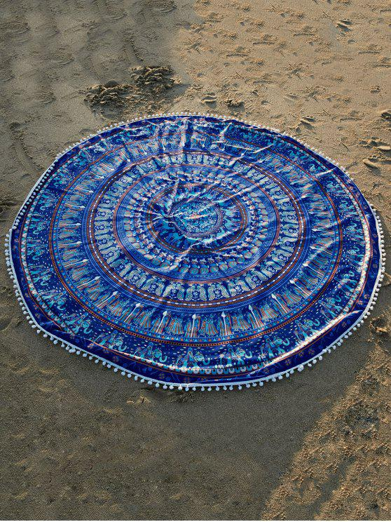 ladies Ethnic Printed Beach Throw - BLUE ONE SIZE(FIT SIZE XS TO M)